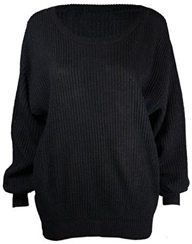 Womens-Plus-Size-Long-Sleeves-Baggy-Style-Oversize-Sweater-Jumper