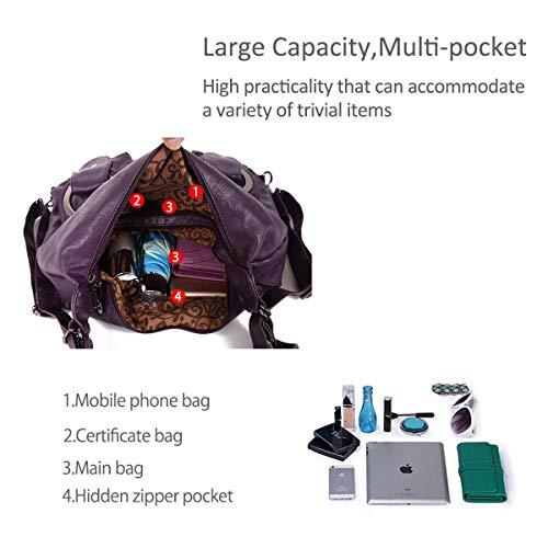 DORIS bags Casual bags NICOLE Women Totes Purple handbags amp; pockets slouch Hobo multiple purses Z5wIIRYqv