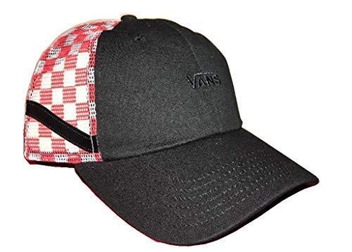 Vans Sidestripe Court Trucker Hat Checkerboard Black White Red