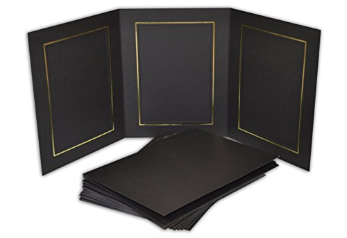 Golden State Art, Cardboard Photo Folder for 3 5x7 Photo (Pack of 50) GS005 Black Color by Golden State Art (Image #5)