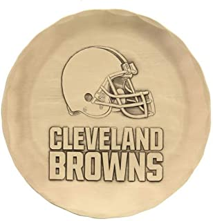 """product image for Wendell August Cleveland Browns Bronze Logo Coaster, 4.5"""" – Made in USA, Handcrafted Metal Coaster – Makes a Great Gift for NFL Fans"""