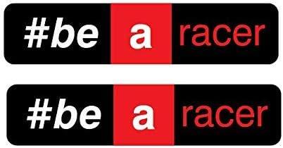 2 Aufkleber Aprilia Racing Be A Racer 24 X 4,6 cm Sponsoren Motorrad Rot