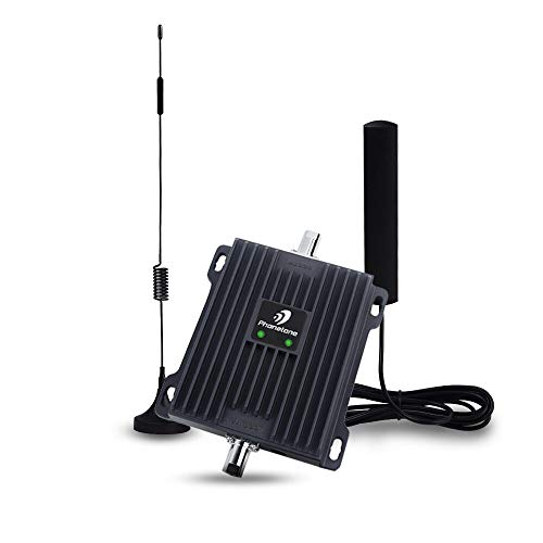Cell Phone Signal Booster for Car and Truck – Enhance 4G LTE Data for Verizon, AT&T and T-moilbe – Dual Band 700MHz Signal Repeater Kit for Vehicle Use