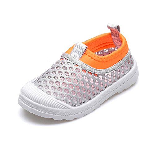 RVROVIC Kids Slip-on Breathable Mesh Sneakers Summer Beach Water Shoes Toddler/Little Kid (11 M US Little Kid, 1-Grey) by RVROVIC