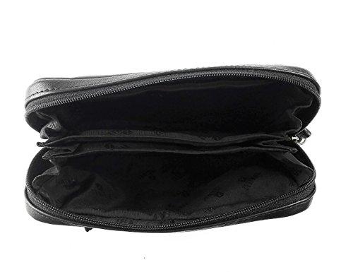 Zerimar Portamonete da Cintura in Pelle Portafoglio Uomo Portafoglio Donna Colore: Nero Misure: 16x10,5x3 cm