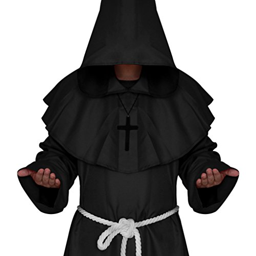 Capa Fraile Medieval Con Capucha Monk Sacerdote Traje De ...