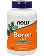 Boron, 3 mg, 250 Caps by Now Foods (Pack of 6)
