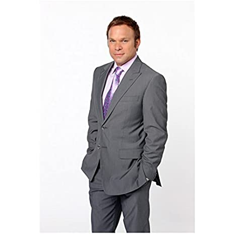 75ff18ef1dab The Deep End (2010 - ) 8x10 Photo Norbert Leo Butz Grey Suit Purple Tie  White Background kn at Amazon's Entertainment Collectibles Store