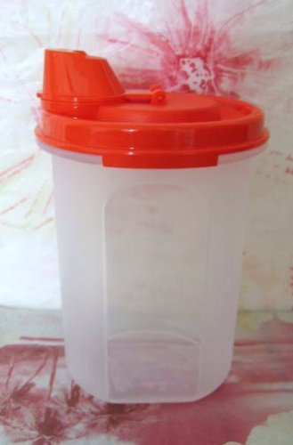 Tupperware Modular Mates Round  2 Dripless Seal Red