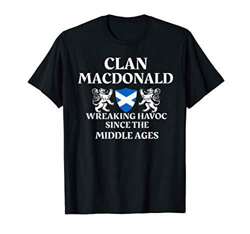 (MacDonald Scottish T-Shirt Family Clan Scotland Name Gift)