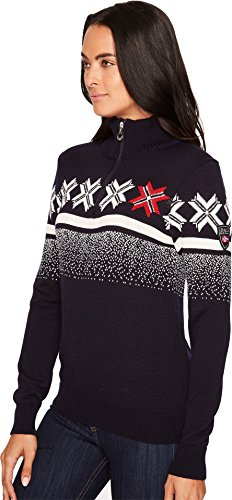 Dale of Norway Damen Olympic Passion Feminine Sweater, Navy, XS