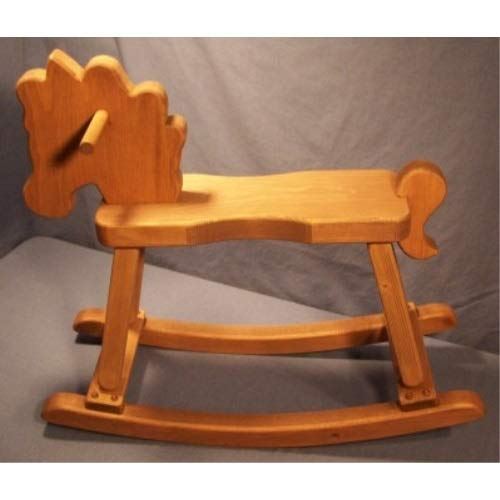 THE PUZZLEMAN TOYS W2201 Wooden Rocking Horse  Stained and Oiled
