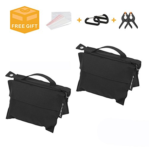 Photography Sand Bag Premium Saddle Weight Bag for Photo Video Studio Stand, Without Sand (2 Pack) by Explore Land