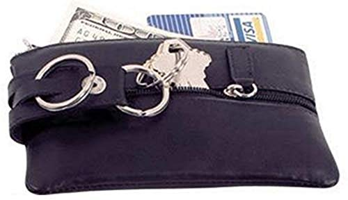 Cowhide Nappa Leather Bavarian Key Case Color: Black