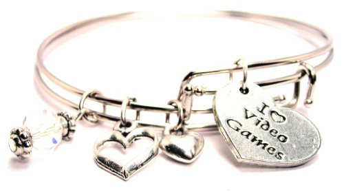 I-Love-Video-Games-Adjustable-Wire-Bangle-Bracelet