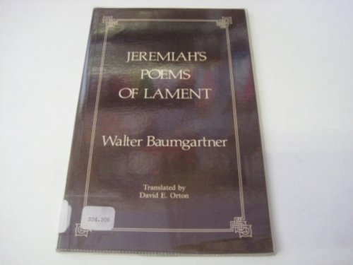 Jeremiah's Poems of Lament