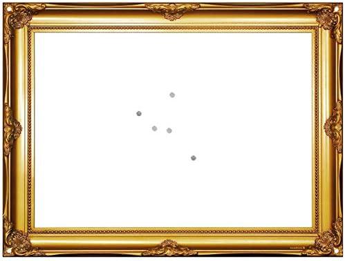 Goldrahmen Magnettafel Magnetpinnwand Memoboard mit Whiteboard-Oberfläche