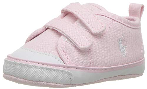 Polo Ralph Lauren Kids Girls' Camden II EZ Crib Shoe, Light Pink, 3 M US Infant (Shoes Girls Ralph Lauren)