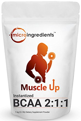 Pure Branched Chain Amino Acids, BCAA Powder (Instantized), 1Kg, High Performance, Energizing Amino Acid Supplement for Muscle Building, Recovery and Endurance. Non-GMO and Gluten Free.