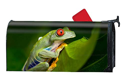 XW-FGF Animal Red Eyed Tree Frogs Mailbox Wrap Festive Spring Summer Fall Winter Mailbox Covers