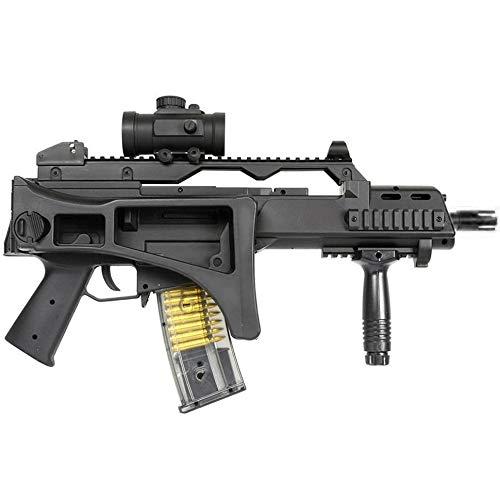 Double Eagle Airsoft-M85 Style G36c ABS/Couleur Noir/électrique (0.5 Joule)-Semi/Full Automatique-livré avec Accessoires 1