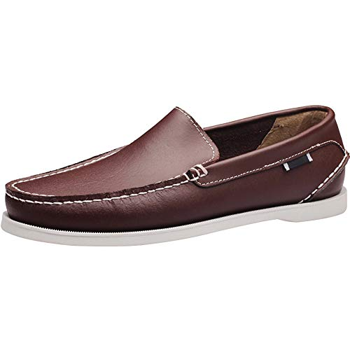 Encaje Classic Zapatos Marrón Zapatos Barco del para 38 Hombre De Casuales Wealsex 45 Tamaño qpxdzw5Oq