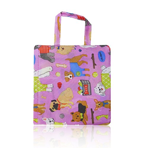 Bag Summer Pink Shopper Print Bag Dogs Womens Handbag Nylon Beach Ladies Tote x8SUvZw