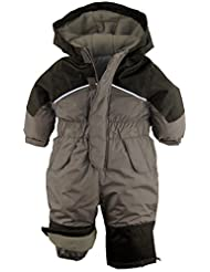 iXtreme Baby Boys Snowmobile One Piece Winter Snowsuit, Charcoal, 18 Months