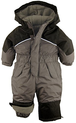 iXtreme Little Boys' Toddler Snowmobile One Piece Winter Snowsuit, Charcoal, 4T (One Piece Pant Suit)