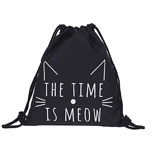 drawstring bag Unisex Halloween animal printing Backpacks 3D Printing Bags Drawstring Backpack pochette,E,United States -