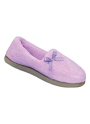 Pantofola Di Spugna Di Nastro Lilla