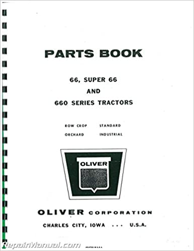 Book JS-OL-P-66-660 Oliver 66 And 660 Parts Manual