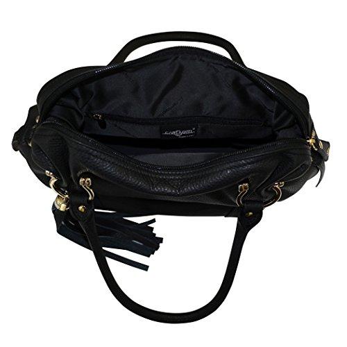 Carbotti borsa a tracolla della borsa italiana in pelle nappa hobo - Nero