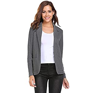 Zeagoo Womens Casual Work Office Blazer Open Front Long Sleeve Cardigan Jacket 27
