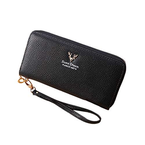 da446d0063e5 ❤️ Sunbona Coin Purses Pouches Women Fashion Lichee Pattern Solid Single  Pull Deer Head Wallte Coin Bag