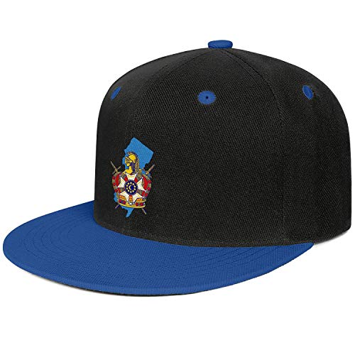 QILI New Jersey Demolay Unisex Hip-Hop Snapback Flatbrim Hats Adjustable Lightweight Sun Hat