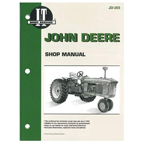 Amazon.com: JD203 Fits John Deere 3010 3020 4000 4010 4020 4320 4520 4620  5010 5020 6030 Manual: Industrial & ScientificAmazon.com