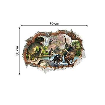 3D vívido dinosaurio etiqueta de la pared habitación de Los ...