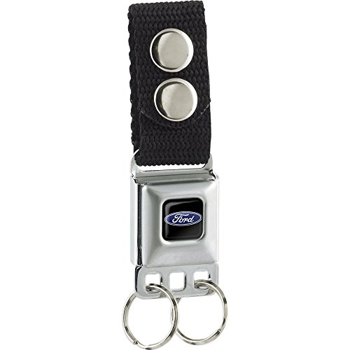 Buckle-Down Unisex-Adult's Keychain-Ford Oval Logo Full Color Blue-Black, Multicolor, One Size