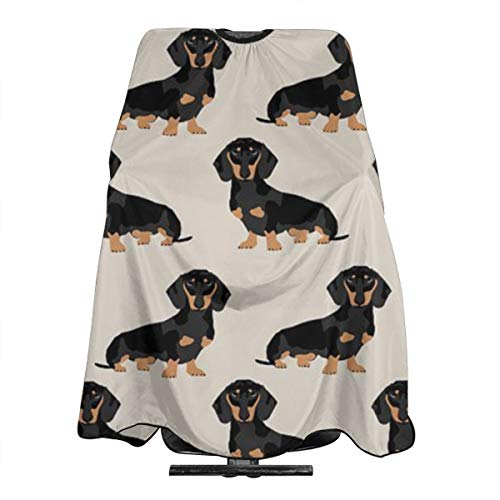 Wiener Dog2 (2) Water and Stain Resistant Haircut Apron with Adjustable Snap Salon Cape ()