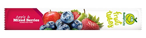 Buddy Fruits Fruit Tubes, Apple & Mixed Berries, 1.75 Fluid Ounce (Pack of 48) by Buddy Fruits (Image #1)'