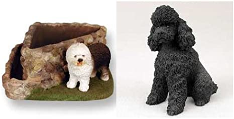 Black Conversation Concepts Poodle Sportcut Angel Dog Ornament