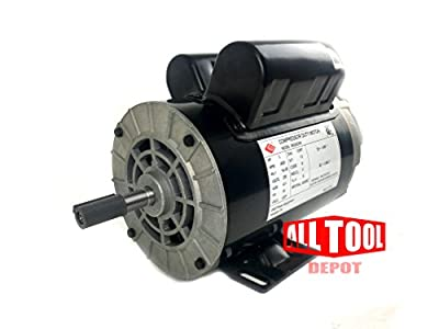 "3 HP 3450 RPM, 56 Frame, 230V, 15Amp, 5/8"" Shaft, Single Phase NEMA Air Compressor Motor - EM-03"