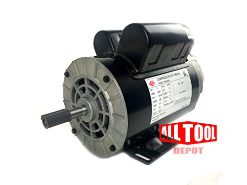 3 HP 3450 RPM, 56 Frame, 230V, 15Amp, 5/8'' Shaft, Single Phase NEMA Air Compressor Motor - EM-03 by EMZ