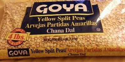 Goya Yellow Split Peas 4lbs bag