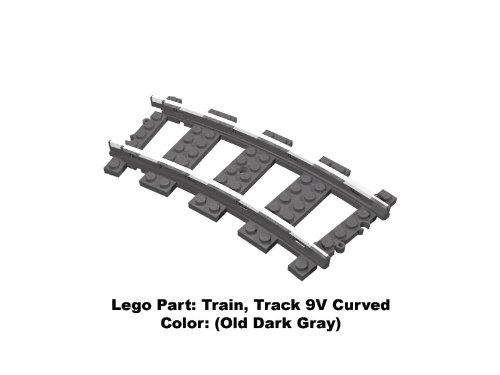 9v Trains (Lego Parts: Train, Track 9V Curved (Old Dark Gray))