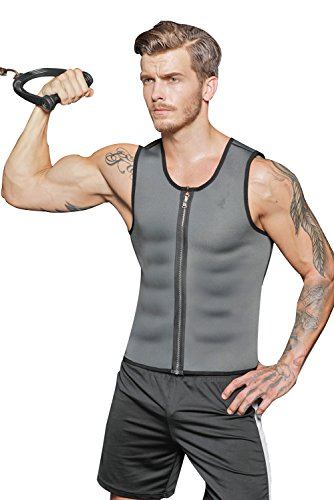 Men Neoprene Slimming Vest Waist Trainer Corset Hot Body Shaper Workout Tank Top Shirt For Weight Loss Sweat Suits Tummy Fat Burner