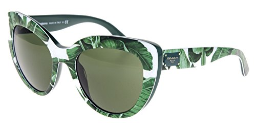 DOLCE & GABBANA Botanical Garden Banana Leaf Green Sunglasses DG4287 - And Dolce Banana Top