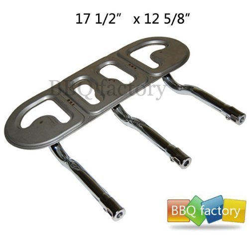 BBQ factory 17303 Stainless Steel Burner Replacement for Select Great Outdoors and Uniflame Gas Grill Models