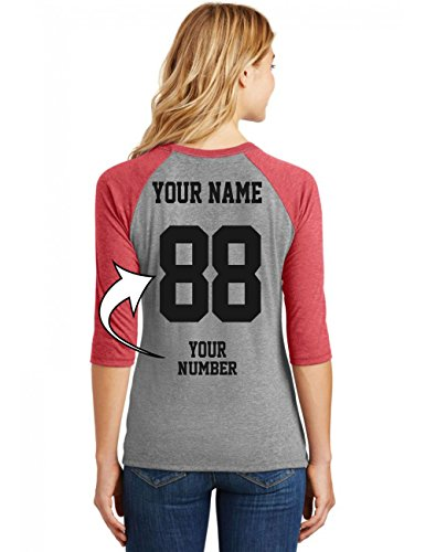 Softball Uniforms - Tee Miracle Custom Baseball Jerseys for Ladies - MAKE YOUR OWN Raglan T Shirts - Softball Team Uniforms